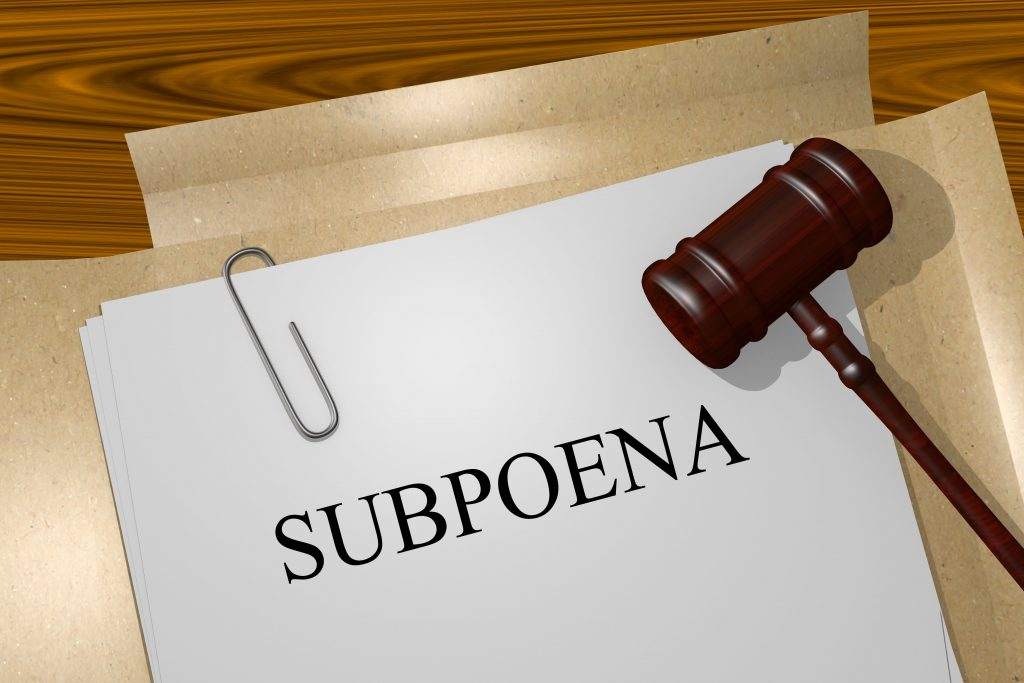 Subpoena Document