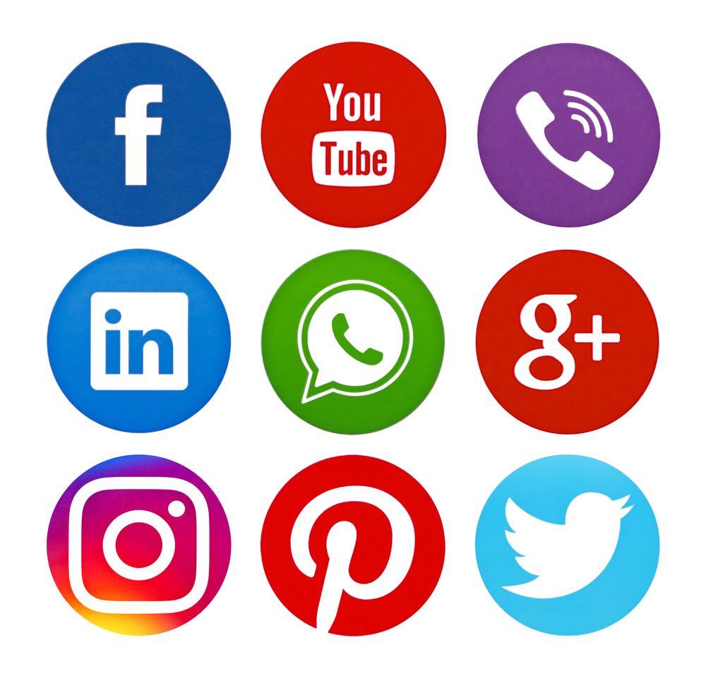 social media platforms' logos