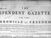 Independent Gazetteer 1782 cover Copyright © 2018 Newspapers.com. All Rights Reserved.