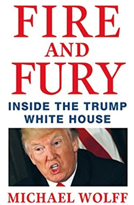 Book cover jacket of Fire and Fury