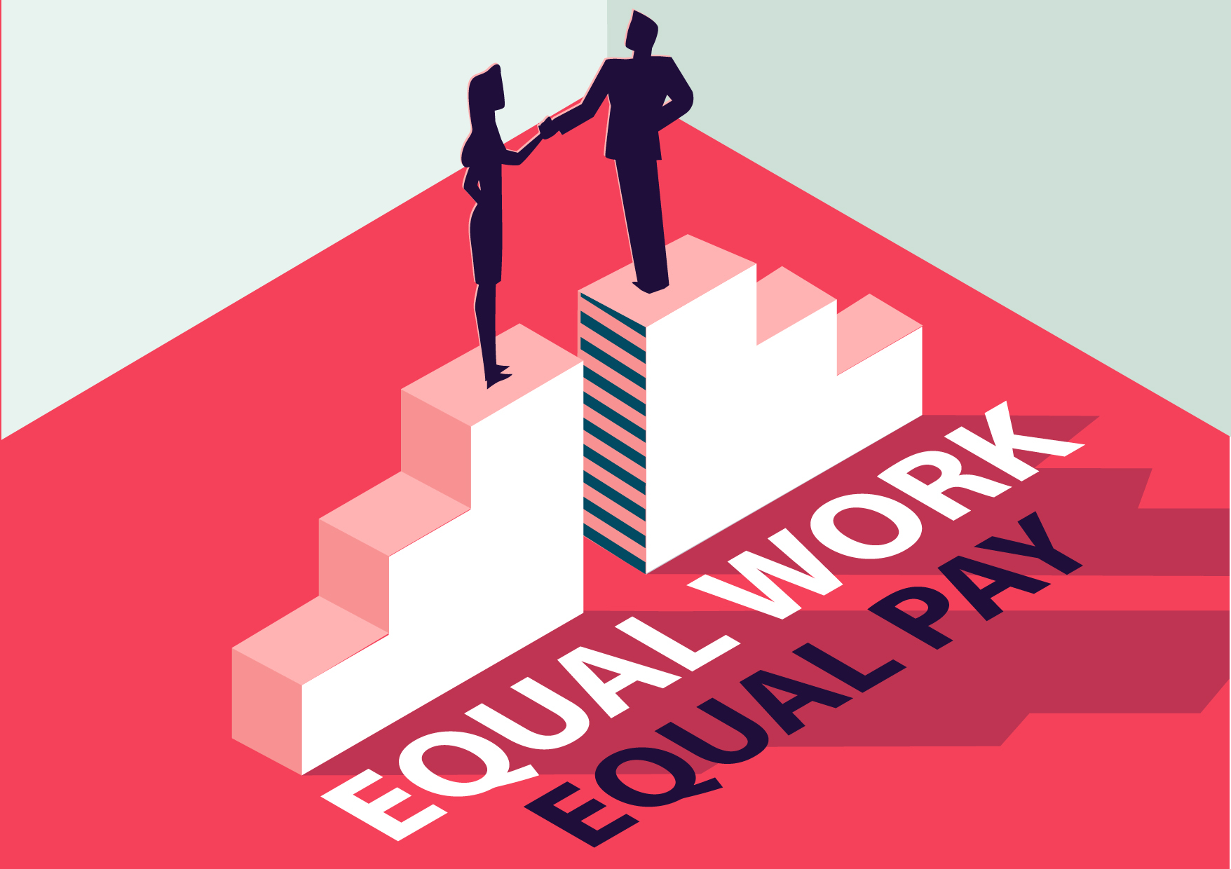 Equal pay equal work stock photo