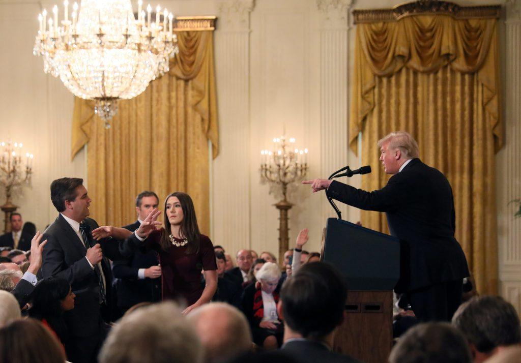 Donald Trump and CNN's Jim Acosta