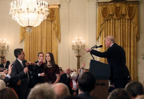 """""""It Could Be Others Also"""" President Trump Floats Idea Of Revoking More Press Passes After Acosta"""