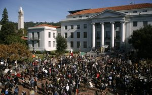 Sproul Plaza at the University of California Berkeley
