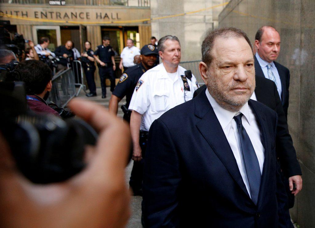 Film producer Harvey Weinstein leaves court in Manhattan