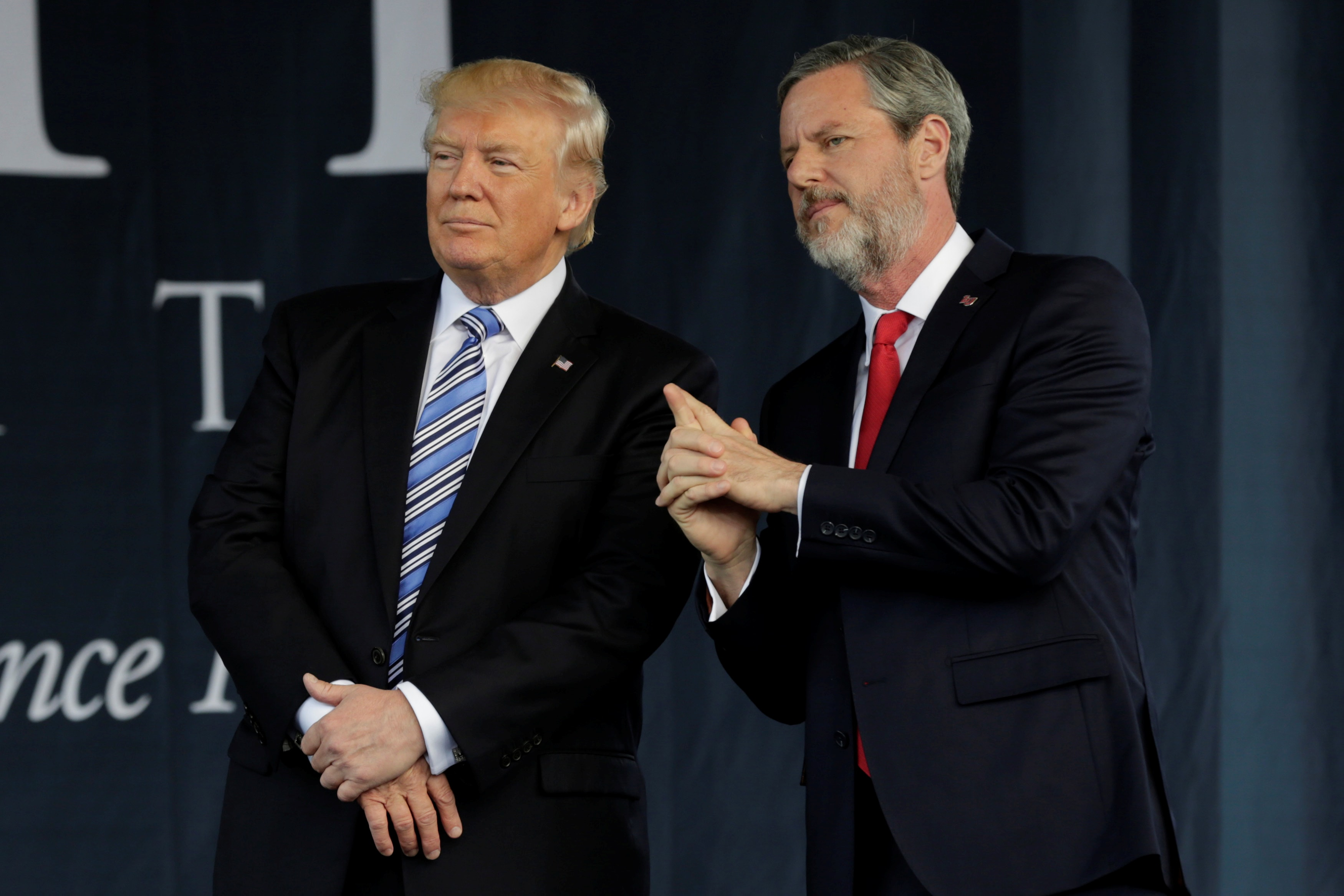 Donald Trump and Jerry Falwell Jr.