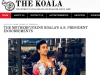 Screenshot of the website for The Koala, a satirical student newspaper at University of California, San Diego.