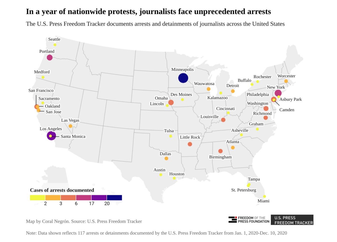 U.S. Press Freedom Tracker