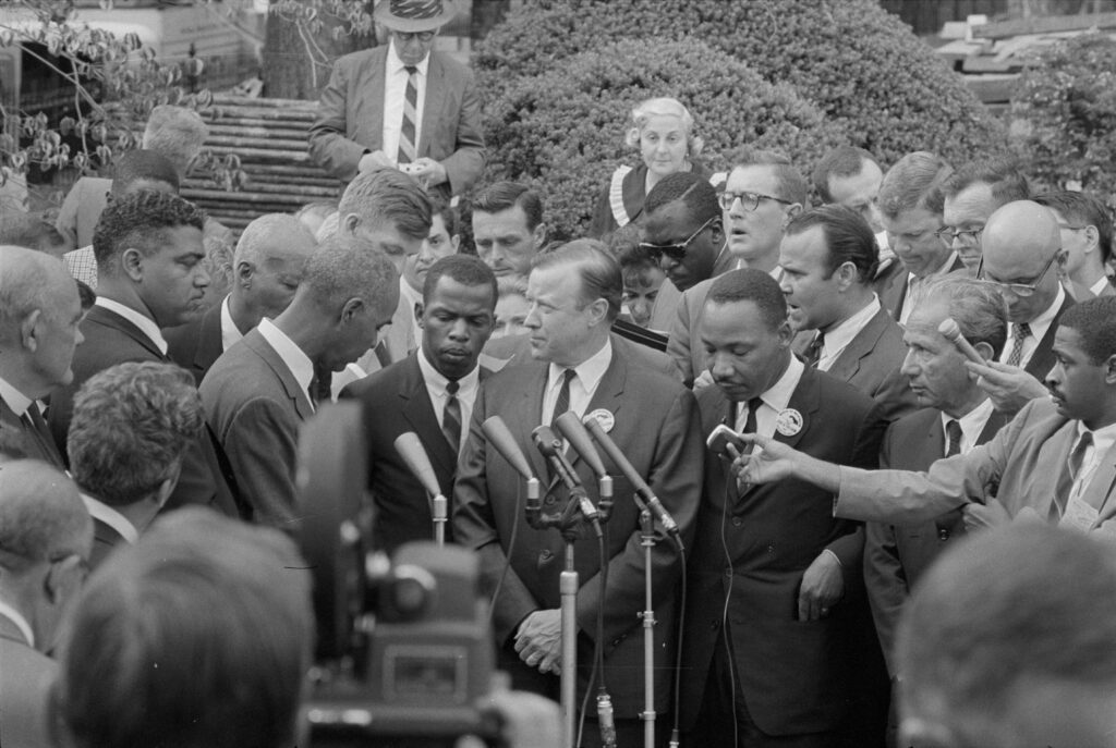 Civil rights leaders, including Martin Luther King Jr.