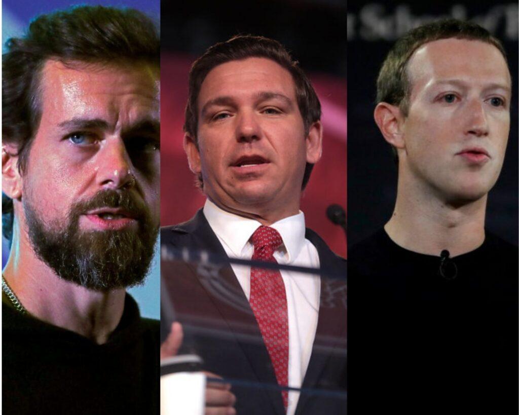Twitter, DeSantis, Zuckerberg